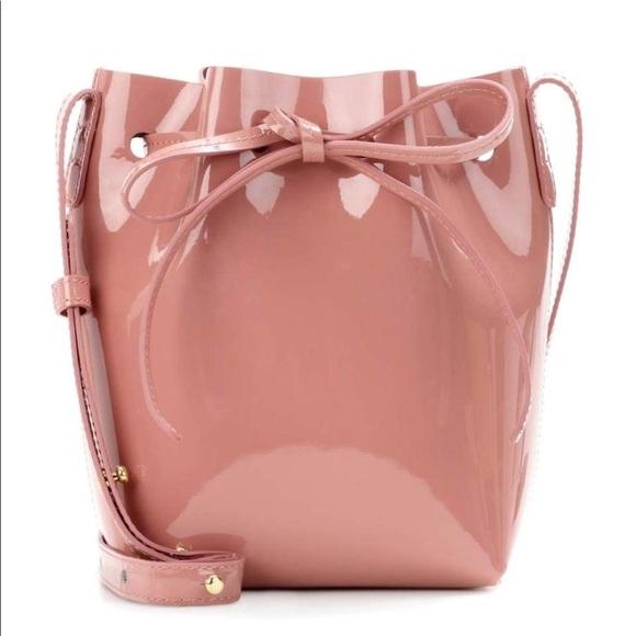 mansur gavriel patent mini bucket bag blush. M 5b7f788a5bbb8072ca9c25e2